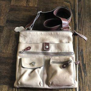 ROOTS Leather Satchel